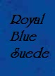 Suede Royal Blue